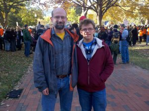 Seth and Raphael at the Keystone XL Pipeline protest